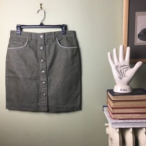 Marc Jacobs Button Front Olive Mini Skirt 8